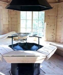 Pavillon med grill 9,2 m² Indvendig
