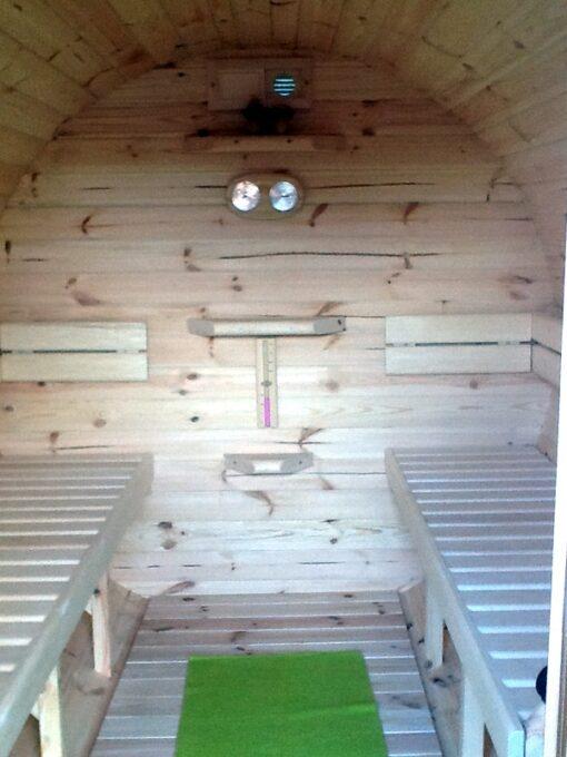 Sauna tønde af fyr