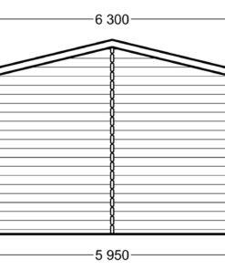 Træ garage 36m² - PLAN