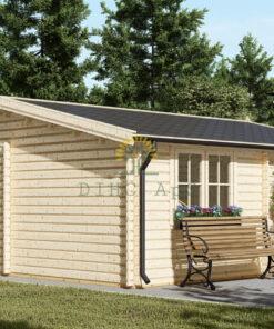 Træ garage 36m², (6mx6m), 44 mm/66 mm
