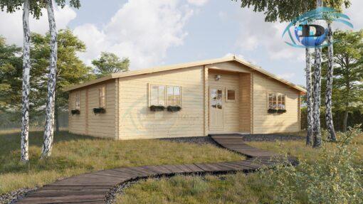 Bjælkehus Fill 61,8 m²