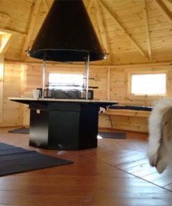 Grillhytte 16.5 m² med 3.57 m² udvidelse