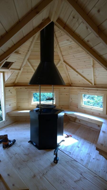 Grillhytte 9,2 m2 med 3.57 m² udvidelse at bygge