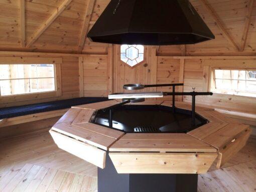 Grillhytte 16,9 m2 inde