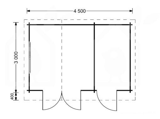 Bjælkehytte BENINGTON 13m²