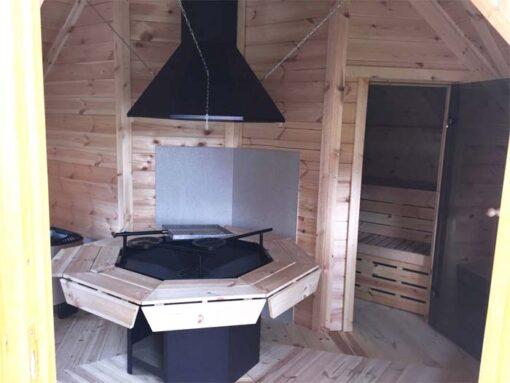 Kombi grill og saunahytte 16,5 m²