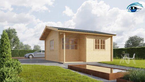 Gæstehus bjælkehytte OSLO (20 m2)