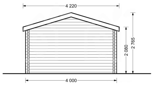Gæstehus SHANON 16m² + 7m² Terrasse - PLAN