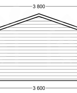 Træ garage 19.9m² (3,60 x 5,35), 44mm - PLAN