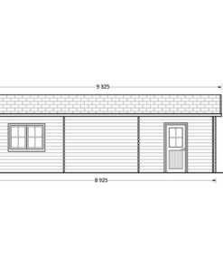 Dobbelt træ garage Hangar 54m² - PLAN