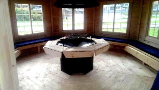 Træpavillon med grill 16,5 m²