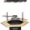 Professionel BBQ grill og skorsten (6 hjørner)
