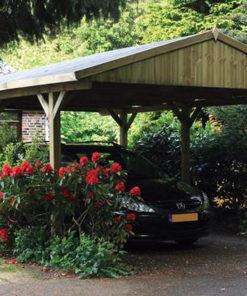 Træ carport Classic 3m x 6m
