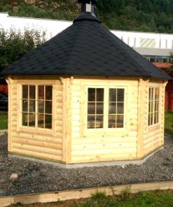Pavillon med grill 14,9 m²