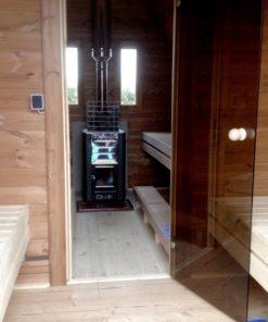 Udendørs sauna, sauna pod