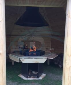 Åben grillhytte 9,2 m2