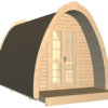 Luksus Camping Pod 4,8 m.-fasad