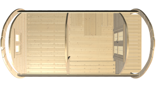 Luksus Camping Pod 4,8 m.-fasad-top