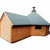 Grillhytte 16.5 m² med Sauna 2.5m udvidelse