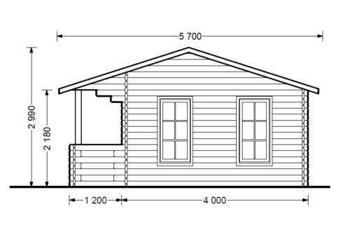 Gæstehus ROYAL 25m² med terrasse - PLAN