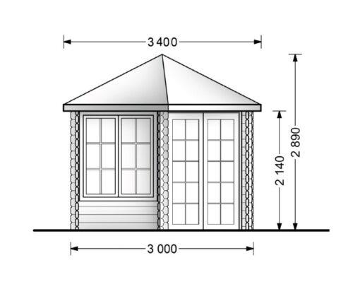 Småhus KIM 15m²-Plan