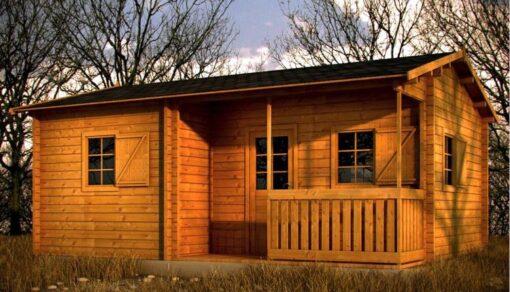 NANTES 30 m2 (kolonihavehus, camping/overnatningshytte, gæstehus)