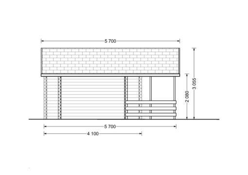 Sommerhus PARIS 21m² - PLAN