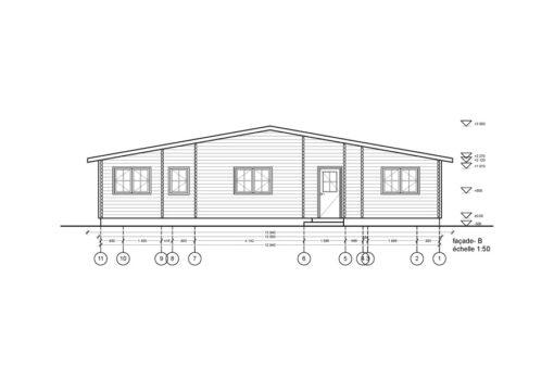 Træhus RIVIERA 119.6 m² - PLAN