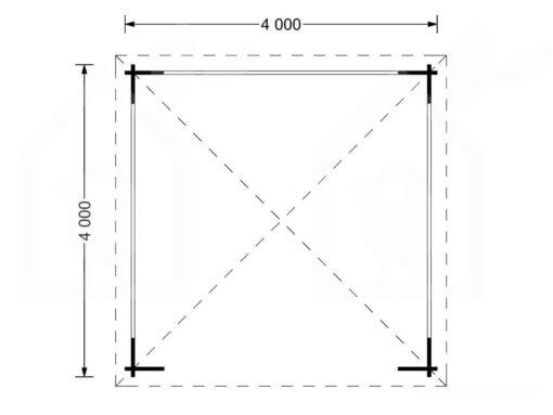 Lystpavellion TONNELLE 16m²