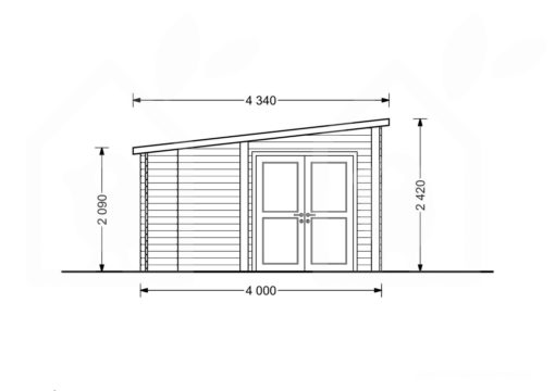 Træhytte Carl 19.9m² + terrasse