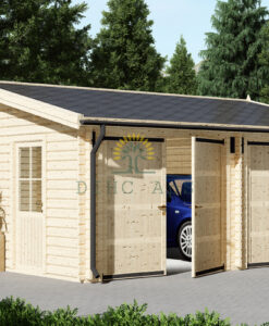 Dobbelt alternativ træ garage 36m², 44mm/66mm