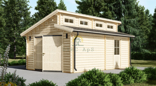 Twin træ garage 24m², 44mm