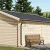 Twin træ garage 24m², 44mm