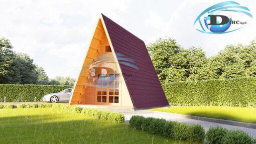 Træhytte med hems TIPI 22.7m² + 5.1m²