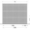 Træhytte med hems TIPI (4.5m x 7m), 44 mm