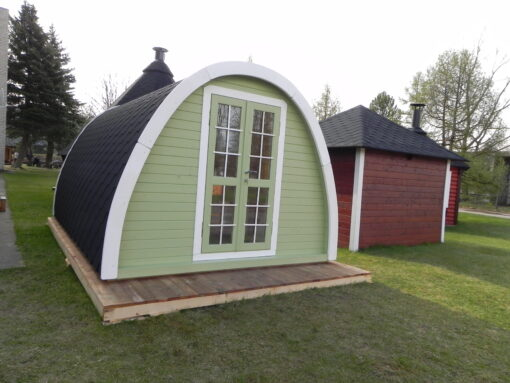 Isoleret camping pod 4.8m. X 3.2 m.