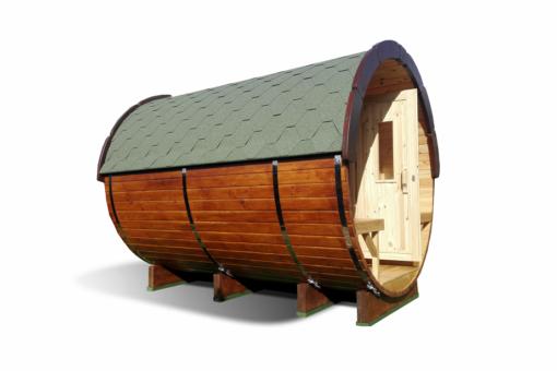 Sauna tønde 2.4 m af fyr