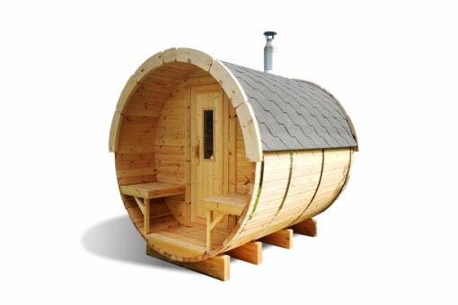 Sauna tønde 3.0 m af fyr