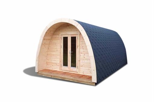 Luksus Isoleret Camping Pod 3,25 x 4,8-5,9