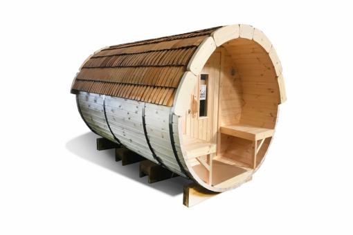 Sauna tønde 3.5 m af fyr