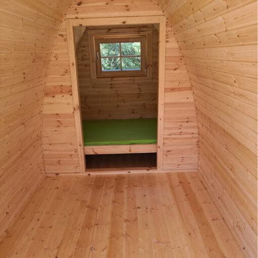 Luksus Campingpod 5,9 m x 2.4 m. (isoleret, god til helårsbrug)