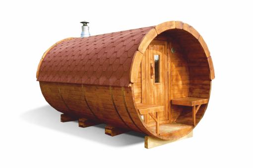 Sauna tønde 4.0 m af fyr