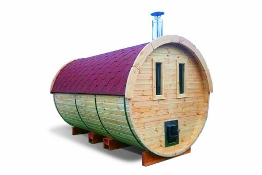 Sauna tønde 4.5 m af fyr