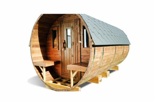 Sauna tønde 4.5m af thermowood