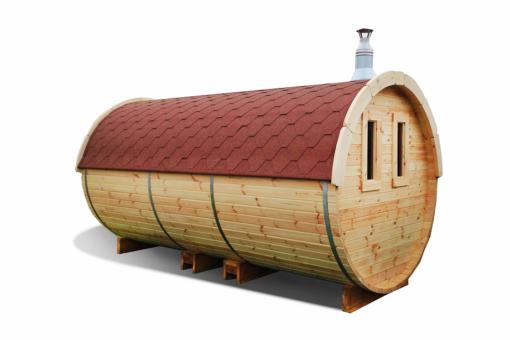 Sauna tønde 4.8 m af fyr