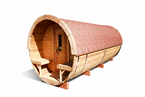Sauna tønde 4.8m af thermowood