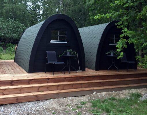 Luksus Isoleret Camping Pod 2.4 m x 4.8 m