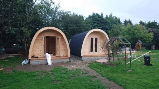 Luksus Isoleret Camping Pod 3 m x 4.8 m