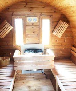 Sauna tønde 3.0 m / Ø 1.97