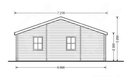 Bjælkehus Uzes 70 m² - PLAN
